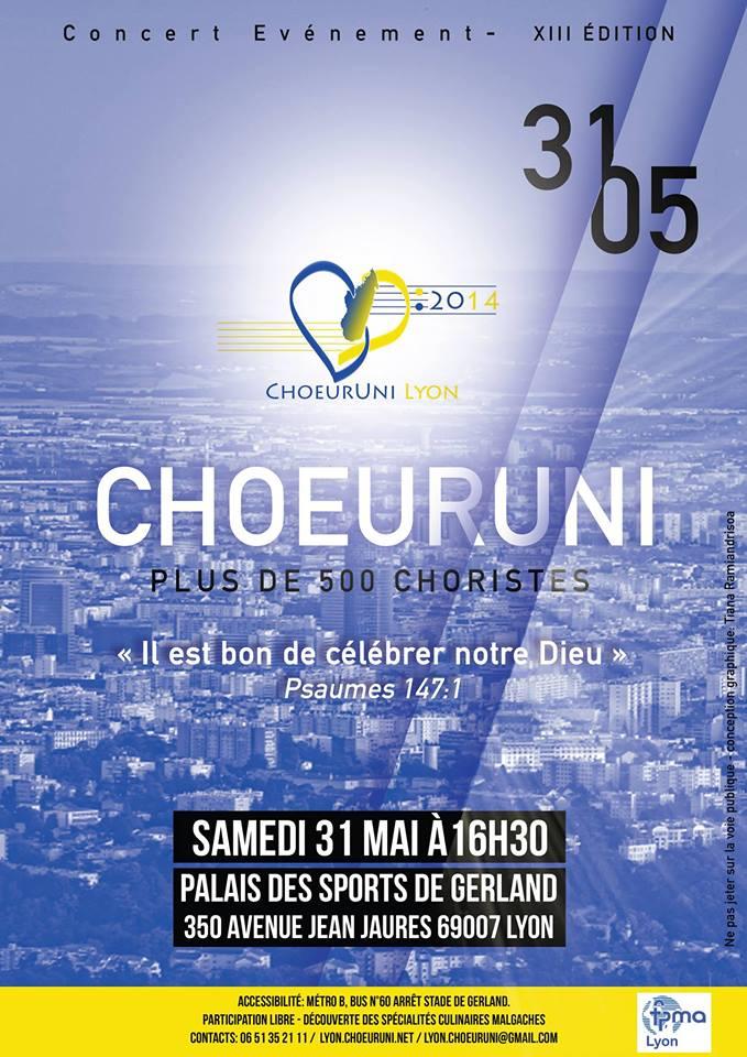 ChoeurUni 2014 - Lyon - 31/05/2014