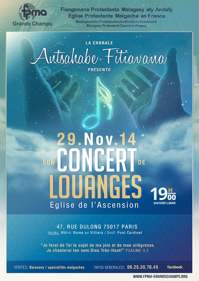 Concert chorale 29 Novembre 2014